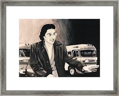 Rosa Parks Framed Print by Howard Stroman