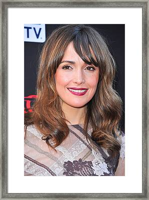 Rose Byrne At Arrivals For Damages Framed Print