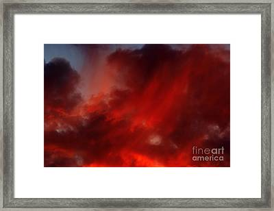 Rosy Sky Framed Print