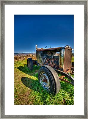 Rusted Hotrod Framed Print by Mike Horvath