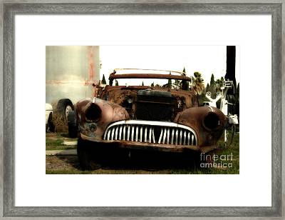 Rusty Old American Car . 7d10343 Framed Print by Wingsdomain Art and Photography