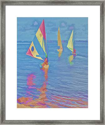 Sailing The Blue Framed Print