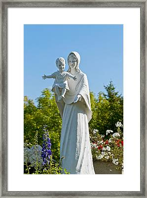 Saint Mary With Jesus Framed Print