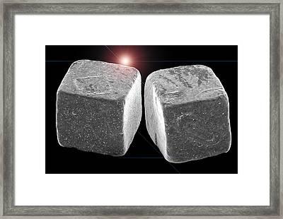 2 Salt Crystals Framed Print