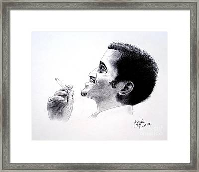 Sammy Davis Jr Framed Print