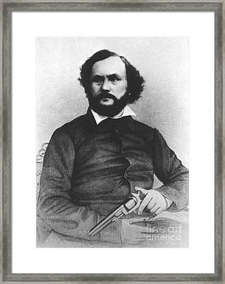 Samuel Colt, American Inventor Framed Print by Science Source