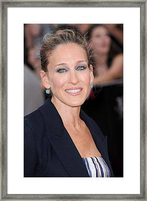 Sarah Jessica Parker At Arrivals Framed Print