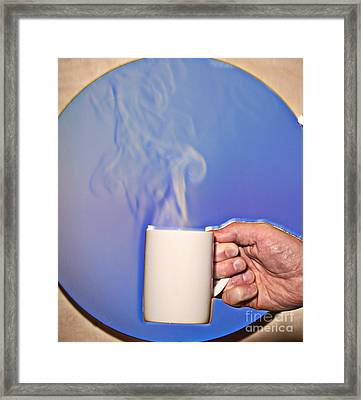 Schlieren Image Of Hot Coffee Cup Framed Print by Ted Kinsman