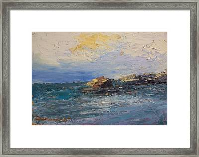 Sea Rocks Framed Print by George Siaba