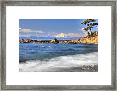 Framed Print featuring the photograph Sea Side by Tad Kanazaki