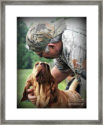 Search And Rescue Dog Framed Print by Lila Fisher-Wenzel