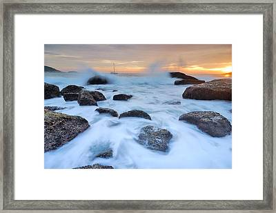 Seascape Framed Print by Teerapat Pattanasoponpong