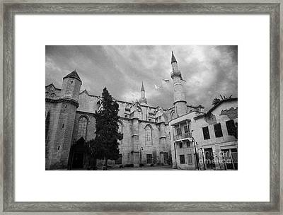 Selimiye Mosque Formerly Saint Sophia Cathedral Nicosia Lefkosia Trnc Turkish Cyprus Framed Print by Joe Fox