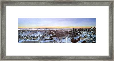 Sentinels At Dawn Framed Print by Stella Sherman