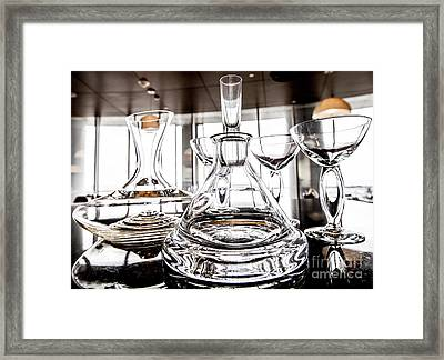 Shadow Of Luxury Glass Framed Print by Chavalit Kamolthamanon