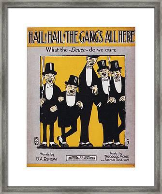 Sheet Music Cover, 1917 Framed Print by Granger