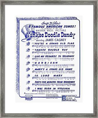 Sheet Music Cover, 1942 Framed Print