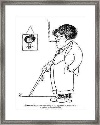Sherwood Anderson Framed Print