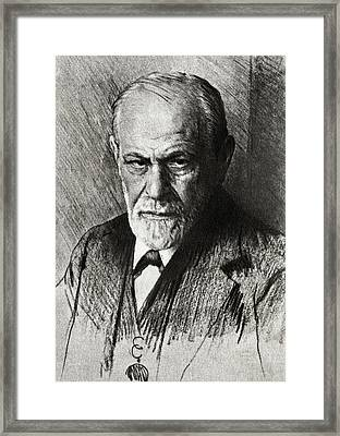 Sigmund Freud, Austrian Psychologist Framed Print by Humanities & Social Sciences Librarynew York Public Library