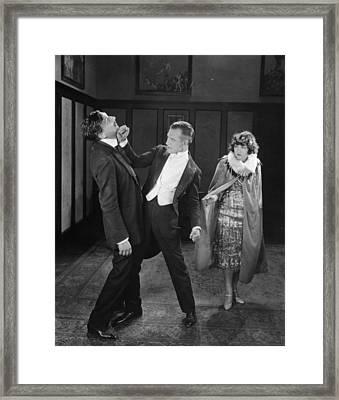 Silent Film Still: Fights Framed Print by Granger