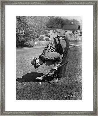 Silent Film Still: Golf Framed Print by Granger