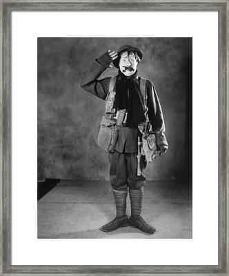 Silent Film Still: Uniforms Framed Print by Granger