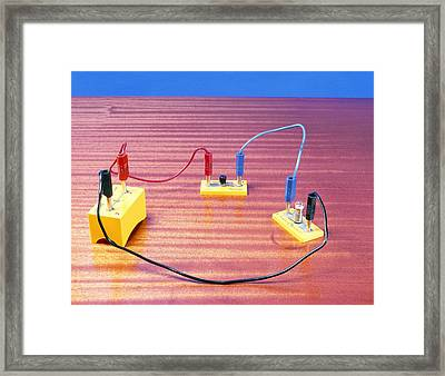 Simple Electrical Circuit Framed Print by Andrew Lambert Photography