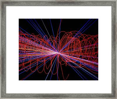 Simulation Of Higgs Boson Production Framed Print by David Parker