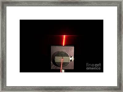 Single Slit Diffraction Framed Print
