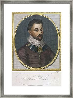 Sir Francis Drake, English Explorer Framed Print by Photo Researchers