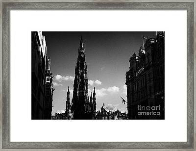 Sir Walter Scott Monument Princes Street Edinburgh Scotland Uk United Kingdom Framed Print by Joe Fox