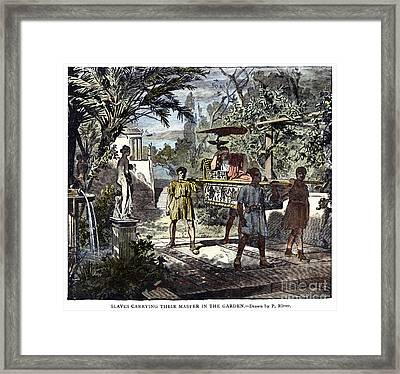 Slavery: Ancient Rome Framed Print