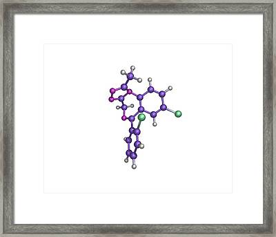 Sleeping Pill Molecule Framed Print by Dr Tim Evans