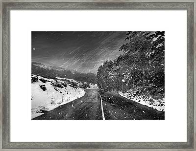 Snow Storm Framed Print by Guido Montanes Castillo
