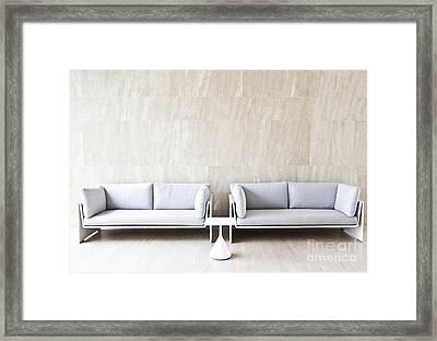 2 Sofas Framed Print by Chavalit Kamolthamanon