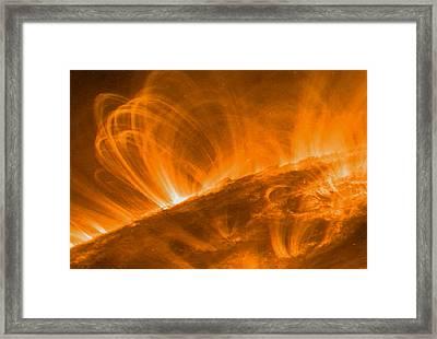Solar Coronal Loops Framed Print by Nasa