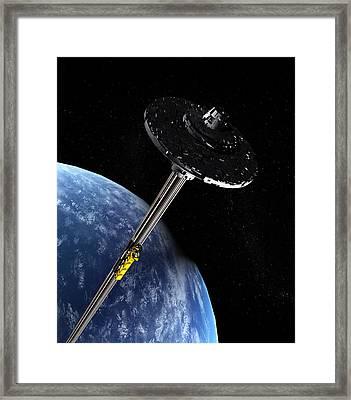 Space Elevator, Artwork Framed Print by Christian Darkin