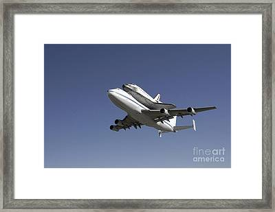 Space Shuttle Endeavour Mounted Framed Print by Stocktrek Images