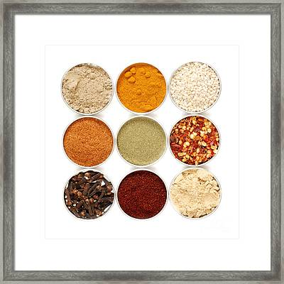 Spices Framed Print by HD Connelly