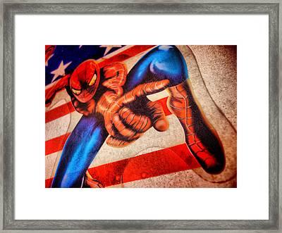 Spider Framed Print by Beto Machado