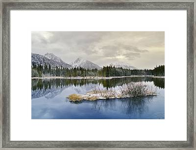 Spillway Lake And The Opal Range, Peter Framed Print by Darwin Wiggett