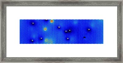 Spintronics Research, Stm Framed Print by Drs A. Yazdani & D.j. Hornbaker