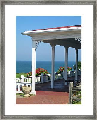Spring House Porch  Framed Print by Rose Pasquarelli