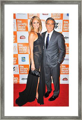 Stacy Keibler, George Clooney Framed Print by Everett
