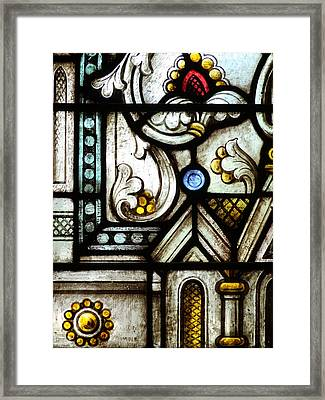 Stained Glass Window Framed Print by Rudy Umans