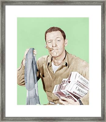 Stalag 17, William Holden, 1953 Framed Print by Everett
