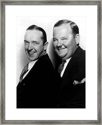 Stan Laurel, Oliver Hardy Laurel & Hardy Framed Print by Everett