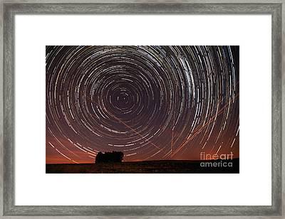 Star Trail In Alentejo Framed Print by Andre Goncalves