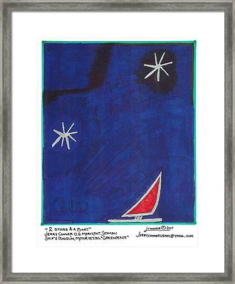 2 Stars And A Boat Framed Print by Jerry Conner