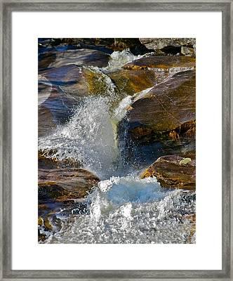 Step Falls Splash 2 Framed Print by George Ramos